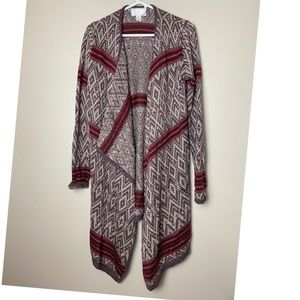 Anthro/ Ruby Moon Large tribal cardigan sweater